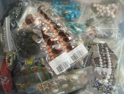 Mixed Surprise Treasure JEWELRY GRAB BAG LOT Box MINIMUM 30 Pcs No Junk Random