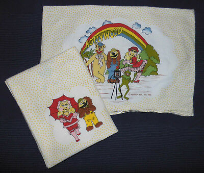The Muppets Kinder Bettwäsche Muppet Show Jim Henson 80er fabric 80s vintage vtg