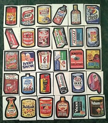 Wacky Packages Complete Series 8 Tan Back Sticker Set