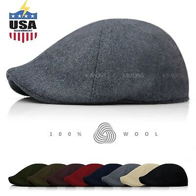 20c9815d EH 100% Wool Gatsby Solid Cabbie Ivy Hat Cap Golf Flat Driving Newsboy  winter