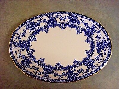 Flo Blue Platter Keeling And Co. Late Mayers Watford Pattern 1790