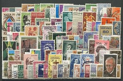 """SOUTH AFRICA ( 2 )  -  100  Stamps  """"  ALL   DIFFERENT  """" ."""