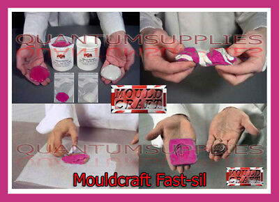Mouldcraft Fast-Sil 40 16g-1kg Mould Making Silicone Putty Food safe Sugarcraft