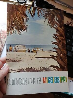 Vintage TRAVEL BROCHURE 1960s OUTDOOR FUN IN MISSISSIPPI