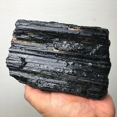 Large Schorl Black Tourmaline Crystal Rough 3.5 Lbs - From India