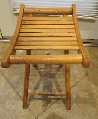 Pleasant Vintage Wood Nevco Fold N Carry Folding Stool Childs Camp Onthecornerstone Fun Painted Chair Ideas Images Onthecornerstoneorg