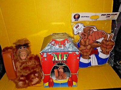 Vintage Alf Phone with Original Box Telephone 80s TV Show Good Working Condition