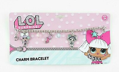 LOL Surprise Girls Charm Chain Bracelet Stainless Steel Fashion Gift Toy Kids 3+