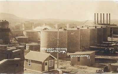 Casper, Wy: Rppc: 1920: View Of The Tanks At Midwest Refinery: By Doubleday