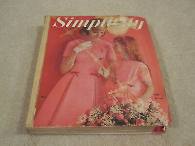 Vintage Simplicity pattern book large store counter book used May 1963