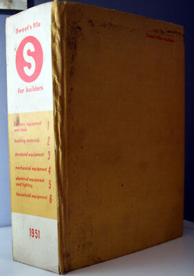 Sweet's File for Builders 1951 Equipment Materials Tools Household Electrical ++