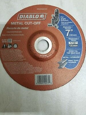 Diablo 7 inch Metal Cut Off Disc Angle Grinder pack of 5