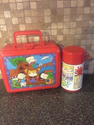 Aladdin Rug Rats Plastic Lunch Box with Thermos