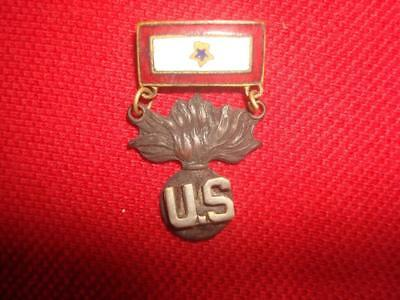 Original WW2 U.S. Homefront pin Son in Service with Ordnance flaming bomb emblem