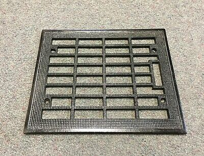 GREAT Antique Floor REGISTER CAST IRON 10x8 Grate HEAT GRILLE