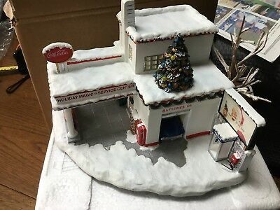Hawthorne Village Coca Cola Holiday Magic Service Center No Light Cord Gas Coke
