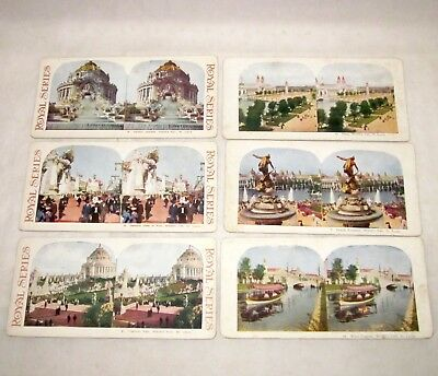 Lot 6 Stereoscopic Images St. Louis WROLD'S FAIR 1904 views cards