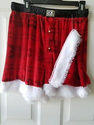 Joe Boxer Mens Santa Shorts Hat Red White Christmas Holiday Shorts L Xl Nwot 4b5de031f