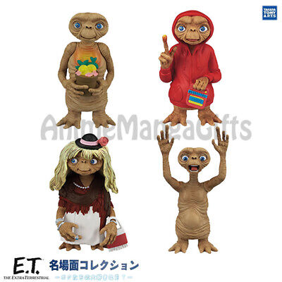 A49 E.T the Extra Terrestrial Famous Scene Figure Collection ET Dress Up Figure