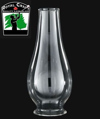 "2 5/8"" X 8"" ~ Clear Borosilicate GLASS  Oil Lamp ~ LIP FITTER CHIMNEY ~ #G7802"
