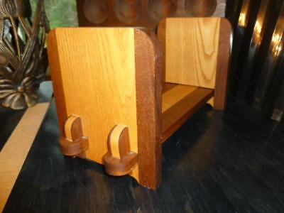 Hand Crafted Two Tone Wooden Sliding Book Rack Ends