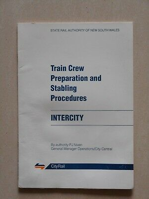 State Rail Authority NSW - Intercity Train Crew Prep & Stabling Procedures