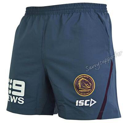 Brisbane Broncos 2018 NRL Steel Training Shorts Mens Sizes S-3XL BNWT*