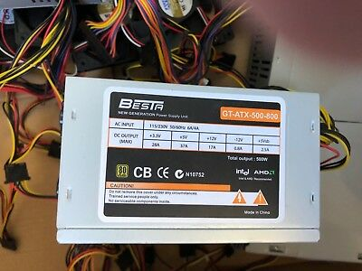 NEW 5X PC power supply and PC fans