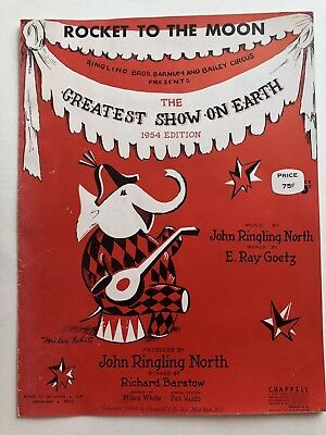 1954 Ringling Brothers and Barnum & Bailey Circus Sheet Music-Rocket to the Moon