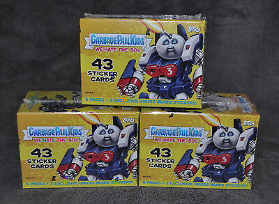 x1 Garbage Pail Kids We Hate the 80s Sealed Exclusive Blaster Box 2018 Rare New