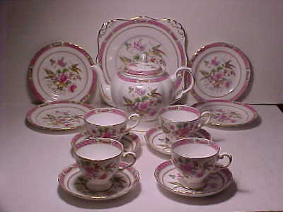 15 pc. Tuscan Pink Bird of Paradise w Flowers Made for Harrods LTD