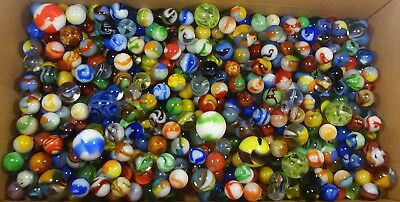 380+ Vintage marbles lot including Vitro, Marble King & antique handmades NM/NM+