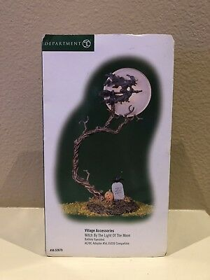 """Dept 56 Village HALLOWEEN """"WITCH BY THE LIGHT OF THE MOON"""" 52879 in Original Box"""