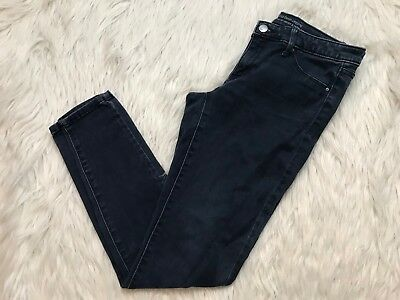 6524034d83a18 MOSSIMO MID RISE Denim Legging Skinny Jeans Size 8 Medium Blue Faded ...