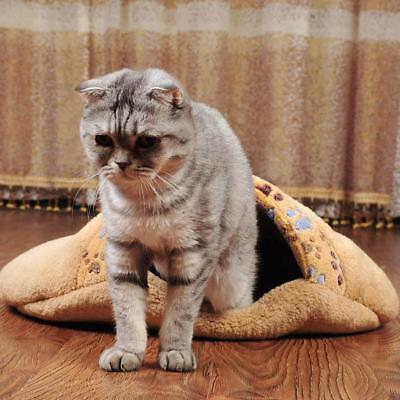 Soft Warm Dog Cat Kitten Cave Pet Bed House Puppy Sleeping Mat Pad Igloo Nests