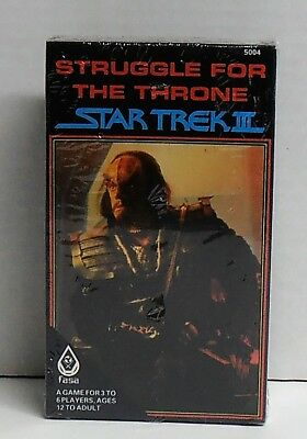 1984 Star Trek III Struggle for the Throne Game by Fasa Still Sealed