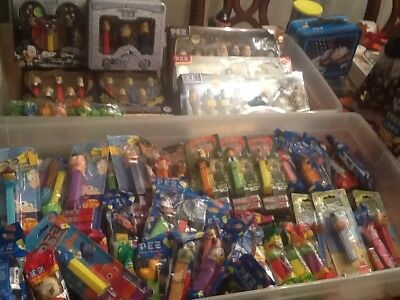 Lot of 171 pez dispensers Disney Monster inc Holiday Star Wars Peanuts & more