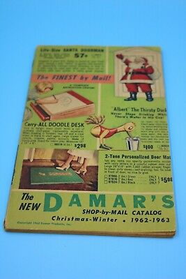 Vintage 1962-1963 Damar's Shop by Mail Christmas Gift Catalog