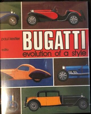 BUGATTI Evolution Of A Style-Paul Kestler 1977 Edita 1st Edition Excellent- RARE