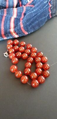 Old Turkish Agate Beaded Necklace …beautiful accent piece