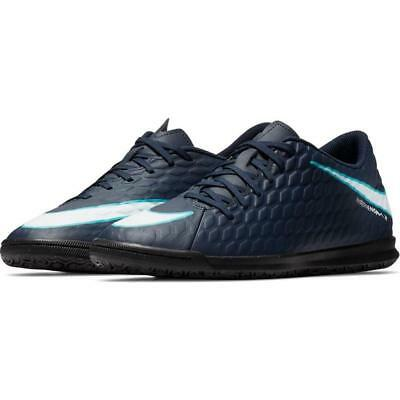innovative design 49ab2 52d49 Nike Men s Hypervenom Phade III 3 Indoor Soccer Shoes Blue Black Size 6.5-11