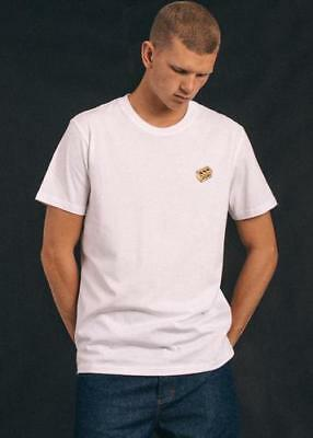 New Men's Afend's Quit Standard Fit Tee White