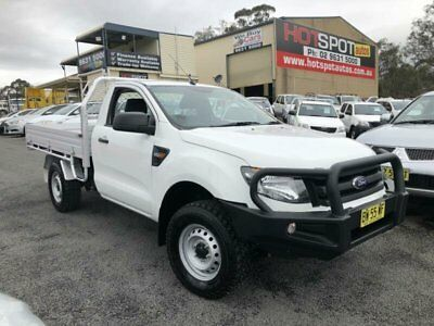 2013 Ford Ranger PX XL Hi-Rider White Automatic A 2D CAB CHASSIS