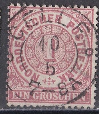 Germania   - Antichi Stati -Germania Del Nord 1868 Cifra In Cerchio G. 1/3 Dent.