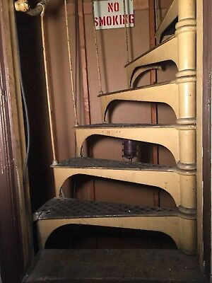 industrial spiral staircase vtg 1800s cast antique architectural salvage