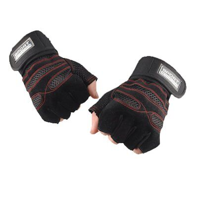 Fitness Gloves Weight Lifting Gym Workout Training Wrist Wrap Strap Men Women NS