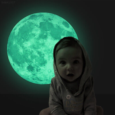 30cm Home Kids Room Luminous Decor Moon Stickers Wall Glow In The Dark Mural.