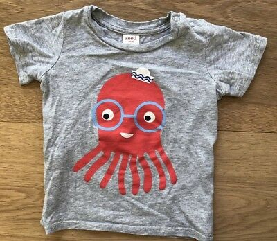 Seed Baby Boys Cotton Octopus T-Shirt Size 1