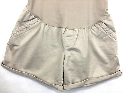 Liz Lange Full Panel Khaki Women's Maternity Shorts Size XS - Rolled - Preowned