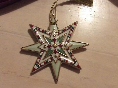 Lenox Parvaneh Holloway STAR OF CHRISTMAS red, green, white, gold Ornament RARE